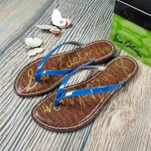 New SAM EDELMAN blue gracie slip on sandal